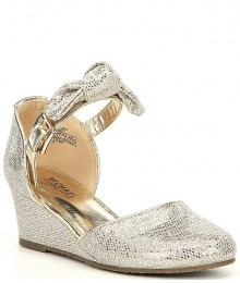 Michael Kors Gold/Silver Wedge Dress Shoes