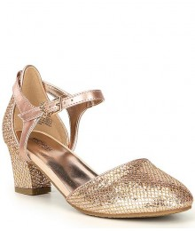 Michael Kors Rose Gold Glitter Mesh Heel Shoes