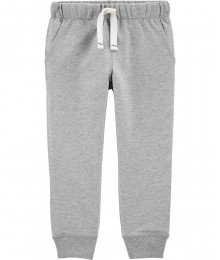 Carters Light Grey Pull On Drawcord Joggers