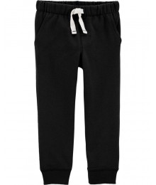 Carters Black Pull On Drawcord Joggers