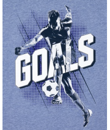 Childrens Place Blue Renew Goals Soccer Graphic Tee