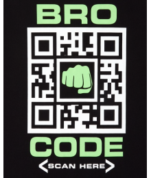 Childrens Place Black Boys Bro Code Graphic Tee