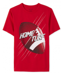 Childrens Place Red American Football Home Turf Graphic Tee