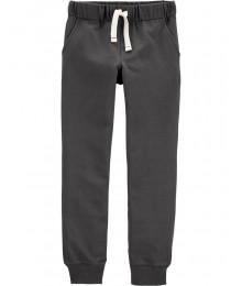 Carters Dark Grey Pull On Drawcord Joggers