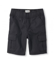 childrens place blk washed cargo shorts