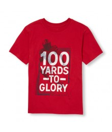 childrens place red 100 yards to glory tee