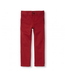 childrens place red skinny husky trousers