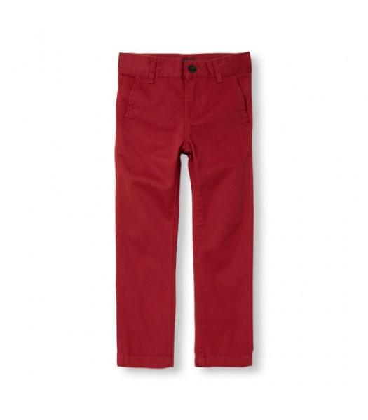 childrens place red skinny regular trousers