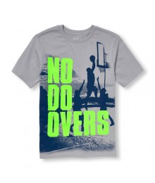 childrens place gray/navy no do overs basketball tee