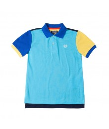 Chaps Blue Color Block Polo Shirt Little Boy