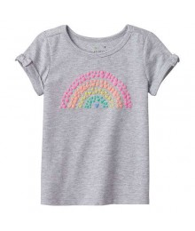 Jumping Beans Grey Rainbow Heart Tee