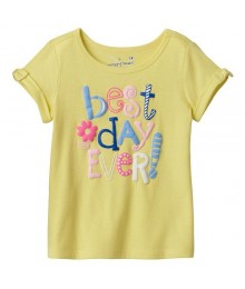 Jumping Beans Yellow Best Day Ever Tee  Baby Girl