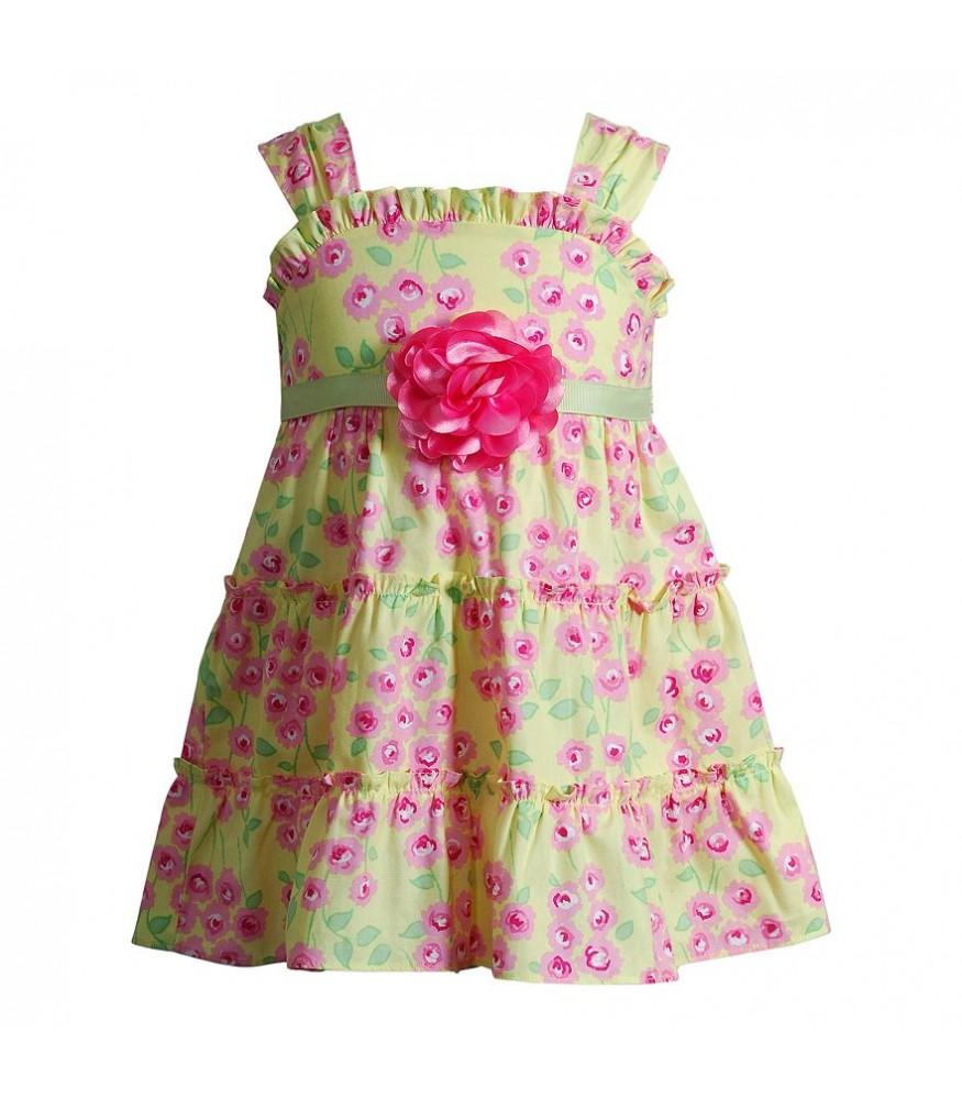 Kohls Youngland Yellow/Pink Floral Dress