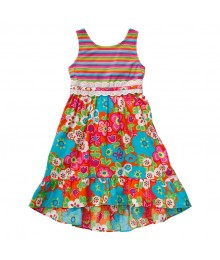 Youngland Multicolor Floral Dress  Little Girl