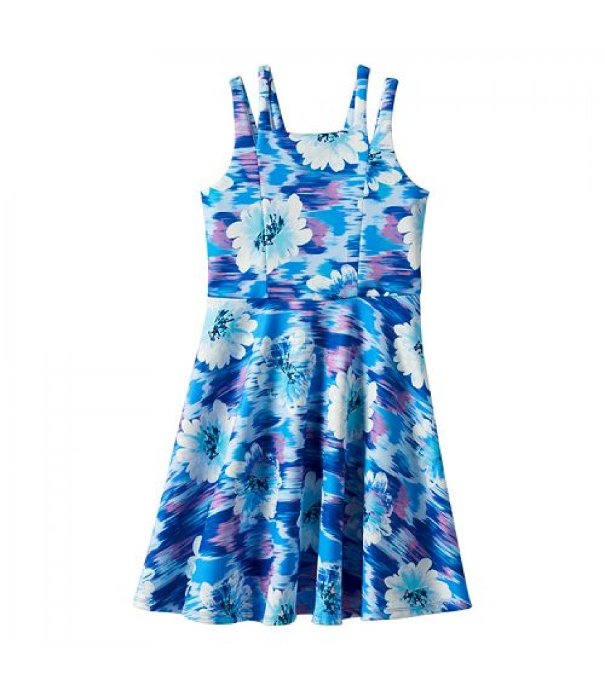 e4be3d5966e6 Speechless Blue Purple Floral Skater Dress. ₦11