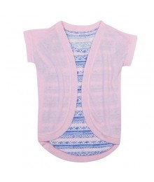 HARPER & ELLIOT PINK GRAPHIC TEE CARDIGAN SET