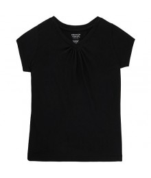 French Toast Black V Neck Tee