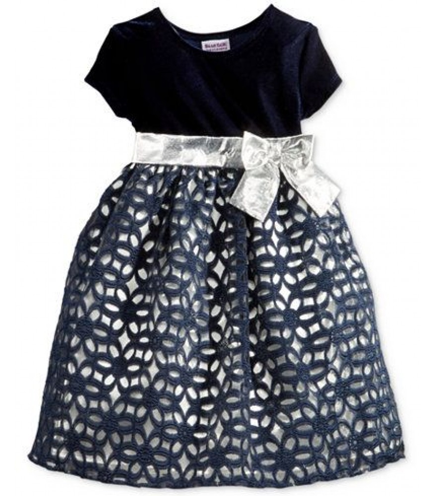 45472adbaffb7 Blueberi boulevard navy/silver floral lace girls dress. ₦14,950.00 NGN
