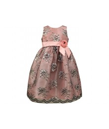jayne copeland pink dress with black lace overlay