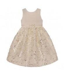 American princess candlelite/cream soutache sequin dress