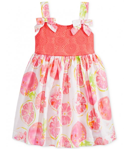 blueberi boulevard coral grapefruit sundress