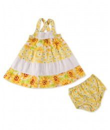 penelope mack yellow sunflower sundress Baby Girl