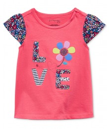 first impressions coral fluter love tee