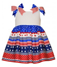 bonnie jean white/blue/red stars americana dre Baby Girl