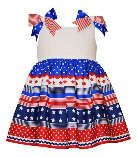 bonnie jean white/blue/red stars americana dre