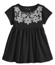 first impression black/wht lace babydol tunic