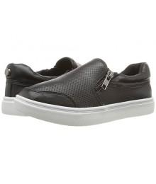 steve madden  gray pewter  wt side zip girls sneakers