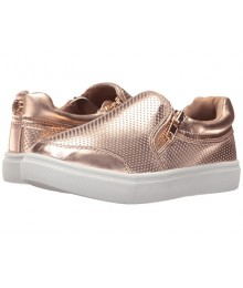 steve madden  rose gold wt side zip girls sneakers
