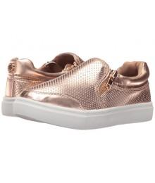steve madden  rose gold wt side zip girls sneakers