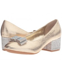 nina gold wt silver stone bow girls shoes