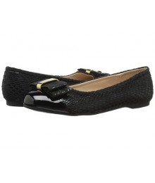 jessica simspon black wt patent front girls ballet shoes