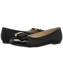jessica simspon black wt patent front girls ballet shoes