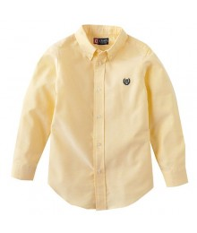 Chaps Yellow Solid Oxford L/S Shirt  Baby Boy