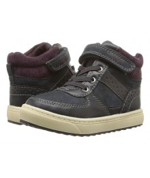oshkosh navy/brown high top boys sneakers