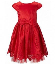Sweet heart rose red laser cut bow dress
