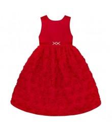 American princess red floral soutache dress