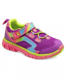 Stride rite pink/lime/purple girls M2P sneakers