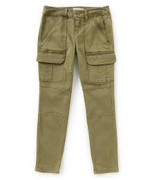 Copper Key Olive Green Stone Wash Knee Pocket Cargo Pants