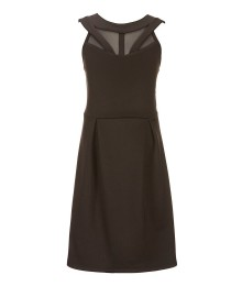 Honey And Rosie Black Illusion Bodice Sleeveless Dress