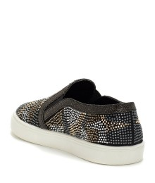 Vince Cammuto Black /Gold /Silver Studded/Rhinestone Girls Sneakers