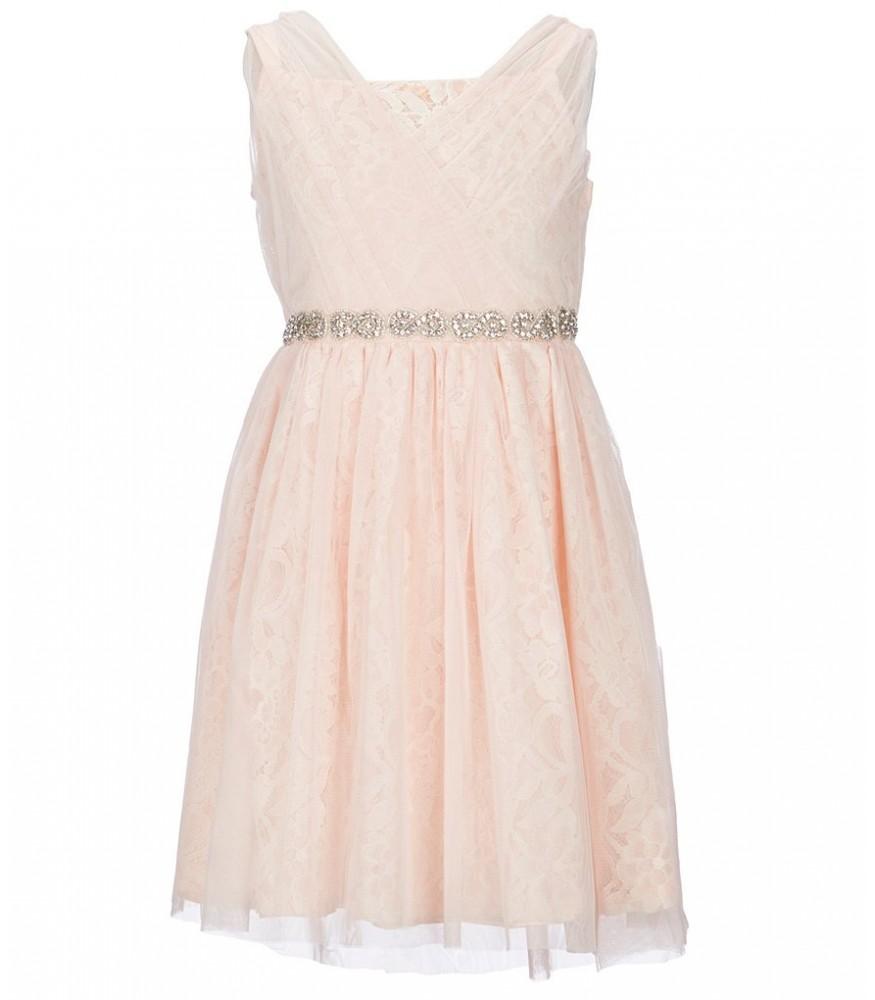 83001b206b0 Blush By Us Angels Pink Blush Lace Waist Beaded Dress. ₦16