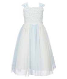 Jayne Copeland Lace Blue Two Tone Light Glitter Dress