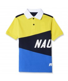 Nautica Yellow/Black/Blue With White Collar Multi Polo Shirt