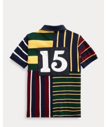 Polo Ralph Lauren Navy Multi Patchwork Polo  Little Boy