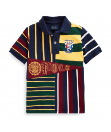 Polo Ralph Lauren Navy Multi Patchwork Polo