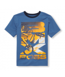 "Childrens Place Blue/Yellow ""Bmx Boss"" Graphic Tee"